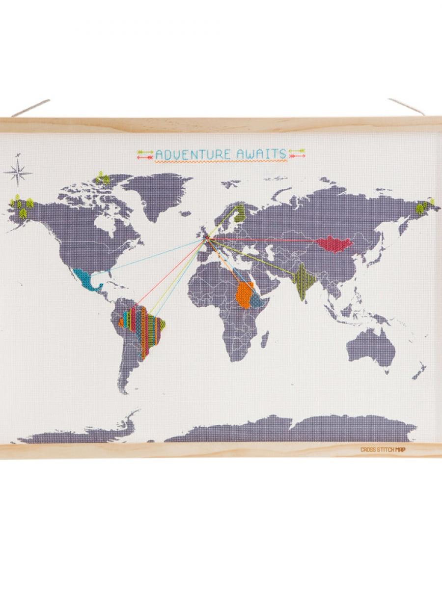 Вышивка крестом карт мира