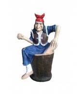 Фигура садовая Баба яга на ступе