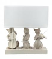 Лампа настольная кошки Полистоун QJ99-0115