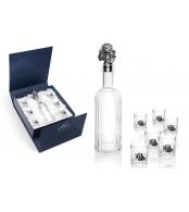 Набор для водки из 6 стопок и штофа Спаниель в подарочной упаковке
