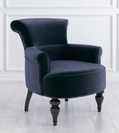 Кресло Перфетто Микровельвет, дерево Синий M11-B-B18