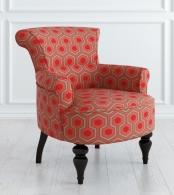 Кресло Перфетто Микровельвет, дерево Красный M11-B-0387