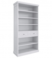 Книжный шкаф Бук, элементы МДФ Серо-бежевый MA137H-K04