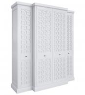 Шкаф 4 двери Бук, элементы МДФ Серо-бежевый MA124H-K04
