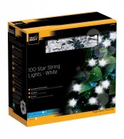 Гирлянда уличная star string lights (100 led-ламп), белый свет