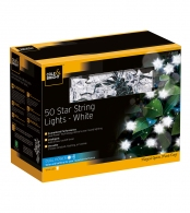 Гирлянда уличная star string lights (50 led-ламп), белый свет