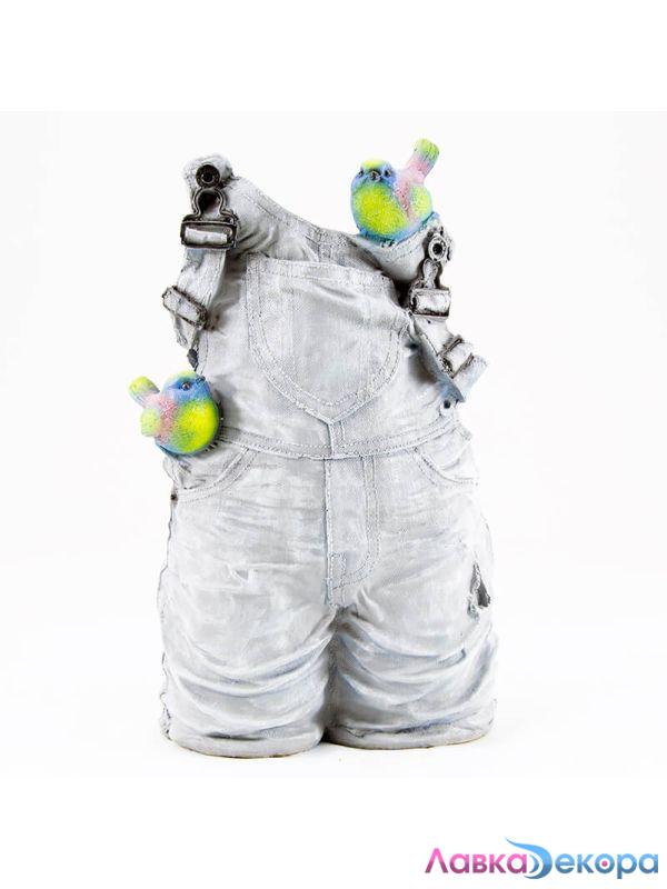 Купить кашпо Комбинезон джинсовый Н-41см