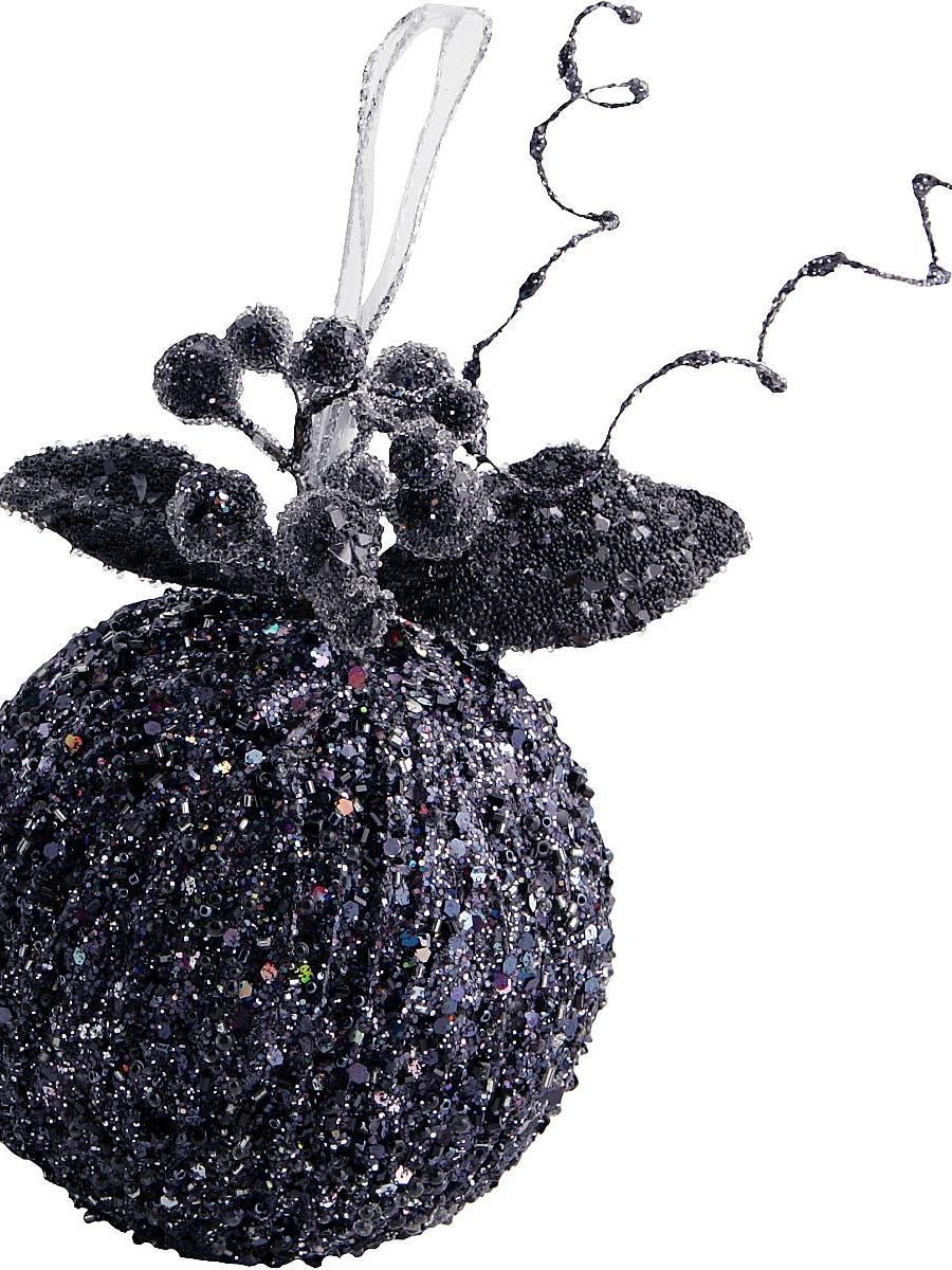 Черные новогодние шары своими руками